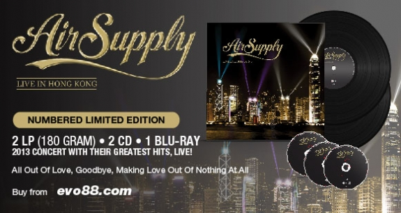 Air Supply Live In Hong Kong Numbered Limited Edition
